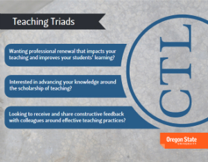 service card - teaching triads