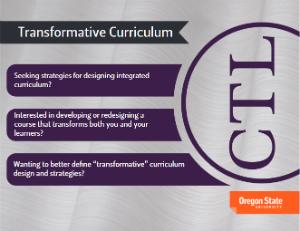 service card - transformative curriculum